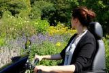 Enjoy the formal gardens at National Trust Killerton with the Tramper scooter